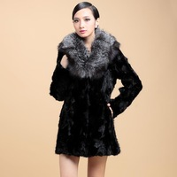 ZDFURS MINK FUR  marten overcoat Women women's medium-long mink fur outerwear
