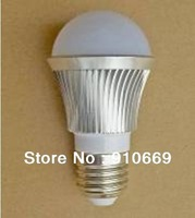 Free shipping(5pcs/lot)Ultra bright 3w LED bubble ball bulb lights SMD 5630 cool white aluminum and PC,lower price buy now