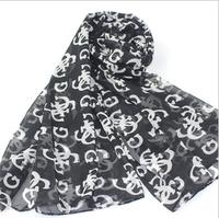 2013 new fashion Letter scarf sun cape chiffon silk scarf all-match free shipping hot sell