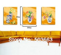 New 30cm X40cm WALL Modern Flowers On Canvas Decorative Oil Painting Art S-526A