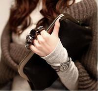 2014 women's fashion handbag for women vintage day clutch skull bag ring bags clutch evening leather handbags