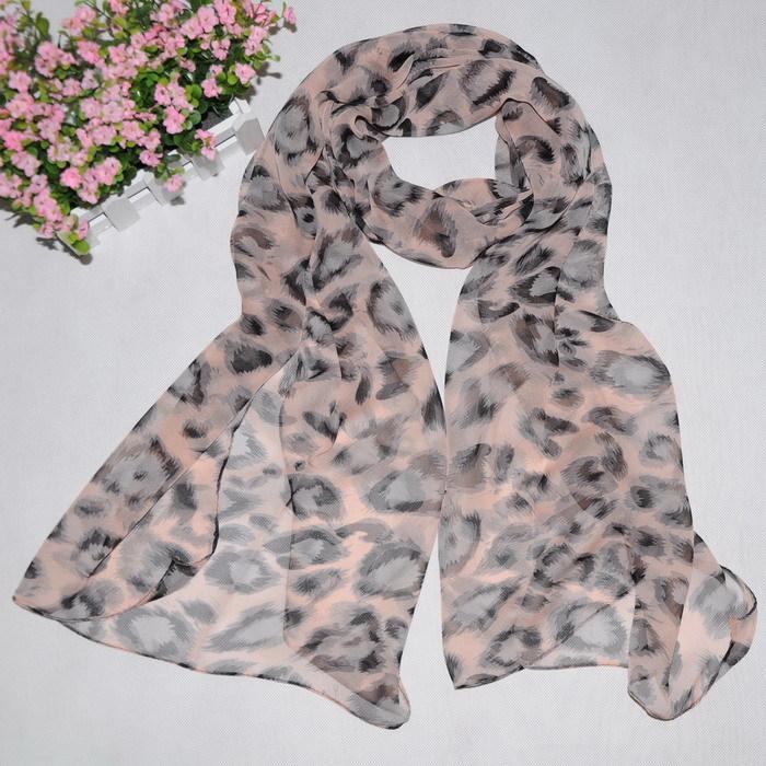 Hot-selling sun scarf muffler scarf silky long silk scarf large leopard print(China (Mainland))
