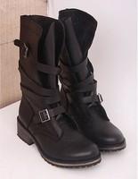 Madden2012 steve banddit cowhide vintage buckle boots decoration martin boots