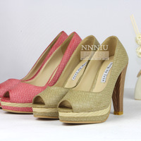 Open toe women's shoes formal thin heels single shoes platform high-heeled solid color single shoes 2013