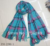 FREE SHIPPING,2013 Winter scarf,warm shawl,acrylic shawl,check design,Yarn dye  scarf,women's shawl,soft touch,size is 50*180cm