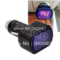 New Mini Digital Red Car Battery Meter Tester Car LCD Battery Voltage Meter Monitor DC 12V Black b8 TK0024