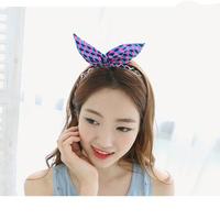 2014 Fashion Hairbands With Metal Chain Headwear Hairaccessories Rabbit Earrings Korean Version 10PCS/Lot Free Shipping