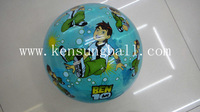 10 piece 9inches cartoon Ben10  Eco-friendly children's inflatable kids plastic bouncy toys balls beach ball