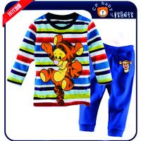 Baby Boys Clothing Set Children's Christimas Pajamas Kids tiger Pyjamas Clothes Sets Family Look Autunm-Summer  t shirts pants