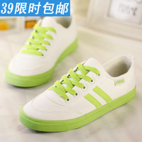 Low canvas shoes female shoes shallow mouth single shoes flat casual shoes candy color