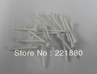 Wholesale 100pcs X70mm Wood Tee  white with Free Shipping