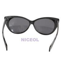 NI5L Vintage Cat Eye Design Sunglasses UV400 Protective Shades Black Frame