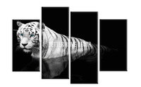 4 Panel Modern Black And White Wild Animal Tiger Pictures Wall Art Painting On Canvas The Picture For Home Decor  Paintings Oil