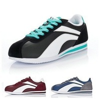 free shipping 2013 new arrival chinese name brand li-ning cortez  athletic running shoes  for women men sale