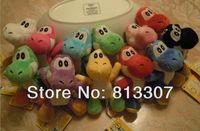 "Free Shipping 30/Lot Super Mario Bros Yoshi Plush Anime 4"" Cos Figure Wholesale"
