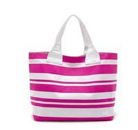 H1553  Beautiful Girl's Pink White Stripes Tote Handbag Free shipping wholesale drop shipping J13