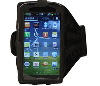 BS1V Sport Armband Case Mesh Running Arm Band for Samsung Galaxy I9500 S4 Black