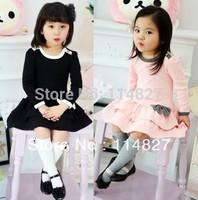 New style baby girls cotton long-sleeved autumn Korean girls lady cake ,5pcs/lot