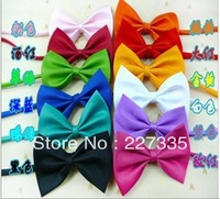 Free shipping! Wholesale 100pcs/lot Dog Neck Tie Dog Bright Colors Genteel Bowknot Tie Cat Tie Supplies Pet Head dress