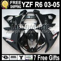 7 Free giftsFor YAMAHA ALL Black Q94 YZF-R6 03 05 YZF600 04 2004 Flat Matte YZF R6 MK248 YZFR6 YZF-600 03-05 2003 2005  Fairing