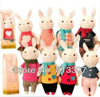 Metoo tiramisu Rabbit plush toy Easter Day gift doll kids gifts 8 style girls toys 50pcs/lot EMS free shipping