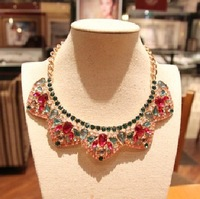 Charming Girl New Vintage Full Rhinestone False Collar Necklace Creative Shining Short Necklace Free Shipping