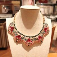 Charming Girl New Vintage Full Rhinestone False Collar Necklace Creative Shining Short Necklace Free Shipping
