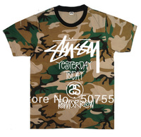 Wholesale - free shipping 2013 summer t shirt MENS HIPSTER  Stussy T-shirts S-XXXL  100% cotton