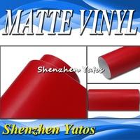 Red Matte Vinyl Auto Wrap Matte Car Sticker 5M/10M/15M/20M/30M