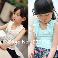 wholesale 5pcs/lot 2013 cute girl summer lace tank vest (8color)