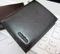 2014 Brand 100% cowhide men's wallets,soft genuine leather wallet man purse cheap wholesale