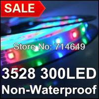10m/lot, 3528 Flexible Led Strip RGB color Non- Waterproof 60Leds/M 300Led/roll, 12V 3528 LED RGB lighting strip, free shipping