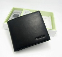 2013 Brand new hot selling high quality genuine leather wallets men's soft short purse cheap wholesale