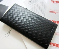 2013 Brand 100% cowhide men's wallets high quality long card holder wallet cheap wholesale free shipping