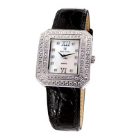 Royal crown diamond square watch ladies watch strap table Women 3619 black
