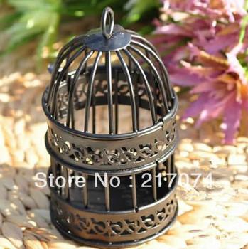 Free shipping Vintage Metal birdcage candle holder