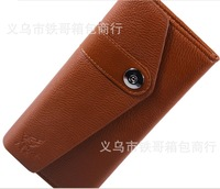retail long pocket red/coffee PU Leather soft wallet purse with magnetic clasp