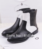 Женские ботинки WOMEN BOOT Ash bovine wool fur and buckle in one elevator wedges snow boots scrub boots Natural leather