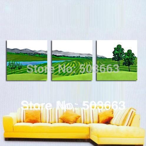 Pintura 30x40x3 orientais 3 Pcs 50 centímetros flores óleo abstrata da arte da parede da casa Deco Canvas S- 539A(China (Mainland))
