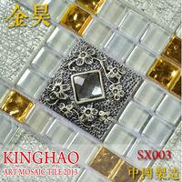 [KINGHAO]  crystal glass mosaic discount tile kitchen backsplash glass mosaic wall tiles SX003 home improvement