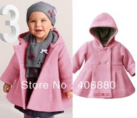 Best Selling! Overcoat Parkas For Baby 80-100cm 3 Sizes,Baby Wear,Fashion Baby Clothes Free Shipping