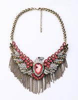 Fashion fashion accessories vintage crystal eagle necklace