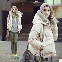 Missfofo down coat female down coat female tooling down coat female short design