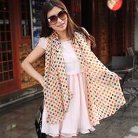 Eratos ultra-thin velvet chiffon long design silk scarf women's sun scarf cape