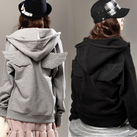 2013 autumn women's zipper wings sweatshirt outerwear female spring  coat with a hood free shipping