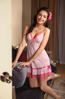 DD&SS Set pink viscose lounge spaghetti strap sexy nightgown set