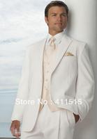 custom tuxedos//free shipping/style White Groom wear dress Men Wedding Suit Best man vest Suit/custom groom suit
