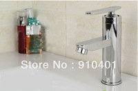 Hot Sale Wholesale And Retail Promotion NEW Polished Chrome Brass Bathroom Basin Faucet Single Handle Vessel Sink Mixer Tap