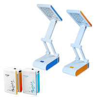 Foldable LED Desk Lamp Reading Lights Rechargable Portable Energy-saving lamps Book Lights Student lamps Free shipping