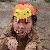 Halloween adult animal cap snake zodiac cap child hair accessory animal hat game props cap